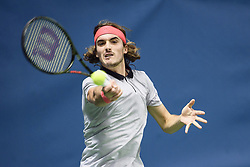 October 21, 2018 - Stockholm, Sweden - 181021 Stefanos Tsitsipas, Grekland under finalen av tennisturneringen Stockholm Open den 21 oktober 2018 i Stockholm  (Credit Image: © Erik Simander/Bildbyran via ZUMA Press)