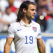Graham Zusi, USA, after the US Men's National Team Vs Turkey friendly match at Red Bull Arena. The game was part of the USA teams three-game send-off series in preparation for the 2014 FIFA World Cup in Brazil. Red Bull Arena, Harrison, New Jersey. USA. 1st June 2014. Photo Tim Clayton