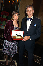 Trainer HENRY CECIL and JANE McEWAN at the Cartier Racing Awards held at the Four Seasons Hotel, Hamilton Place, London W1 on 16th November 2005.<br />
