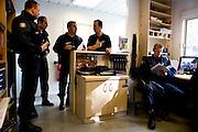 Paris, France. 28 Avril 2009..Brigade Fluviale de Paris..18h17 Quai Saint Bernard (5eme Arrondissement)..Paris, France. April 28th 2009..Paris fluvial squad..6:17 pm Quai Saint Bernard (5th Arrondissement)