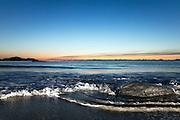 Evening at the beach, at Flø, Norway   En kveld på stranden på Flø, Norge.