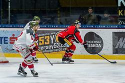 19.01.2018, Ice Rink, Znojmo, CZE, EBEL, HC Orli Znojmo vs HCB Suedtirol Alperia, 41. Runde, im Bild v.l. Matias Sointu (HCB Sudtirol Alperia) Radek Cip (HC Orli Znojmo) // during the Erste Bank Icehockey League 41th round match between HC Orli Znojmo and HCB Suedtirol Alperia at the Ice Rink in Znojmo, Czech Republic on 2018/01/19. EXPA Pictures © 2018, PhotoCredit: EXPA/ Rostislav Pfeffer