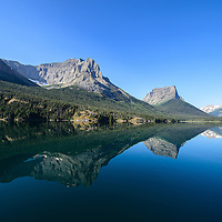 mountain reflection saint mary lake glacier national park