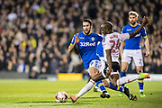 Leeds United midfielder Alfonso Pedraza (29) Sone Aluko Fulham (24) during the EFL Sky Bet Championship match between Fulham and Leeds United at Craven Cottage, London, England on 7 March 2017. Photo by Sebastian Frej.