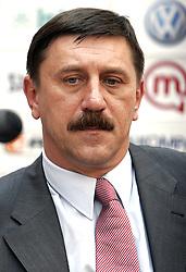 Tone Krump at press conference of Slovenian basketball National Team before departure to European Championships Belgrade 2005, on September 13, 2005, City park, BTC, Ljubljana, Slovenia.  (Photo by Vid Ponikvar / Sportida)