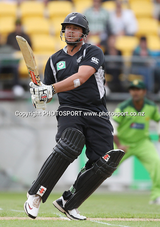 NZ Opening batsman Jesse Ryder batting. New Zealand Black Caps v Pakistan, ODI Cricket. Match 1, Westpac Stadium, Wellington, New Zealand. Saturday 22 January 2011. Photo: Andrew Cornaga/photosport.co.nz