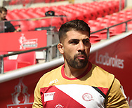 Mickael Simon during the Catalan Dragons Captains Run ahead of the Ladbrokes Challenge Cup Final at Wembley Stadium, London<br /> Picture by Stephen Gaunt/Focus Images Ltd +447904 833202<br /> 24/08/2018