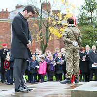 Pictures show the Remembrance day service held in Leigh.<br />