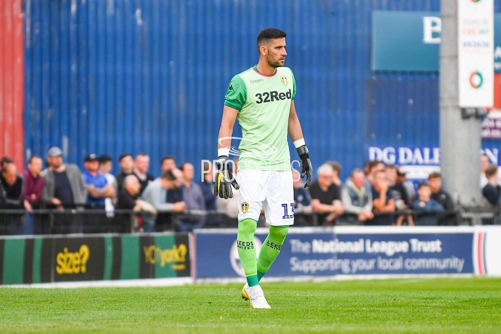 Leeds United goalkeeper Kiko Casilla (13) in action during the Pre-Season Friendly match between York City and Leeds United at Bootham Crescent, York, England on 10 July 2019.