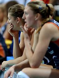 01-10-2014 ITA: World Championship Volleyball Servie - Nederland, Verona<br /> Nederland verliest met 3-0 van Servie en is kansloos voor plaatsing final 6 / Anne Buijs, Quinta Steenbergen