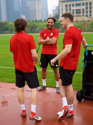 NANNING, CHINA - Saturday, March 24, 2018: Wales' captain Ashley Williams during a training session at the Guangxi Sports Centre ahead of the 2018 Gree China Cup International Football Championship final match against Uruguay. (Pic by David Rawcliffe/Propaganda)