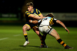 Alex Hearle of Worcester Cavaliers is tackled by Tom Howe of Wasps A - Mandatory by-line: Robbie Stephenson/JMP - 03/04/2017 - RUGBY - Sixways Stadium - Worcester, England - Worcester Cavaliers v Wasps A - Aviva A League