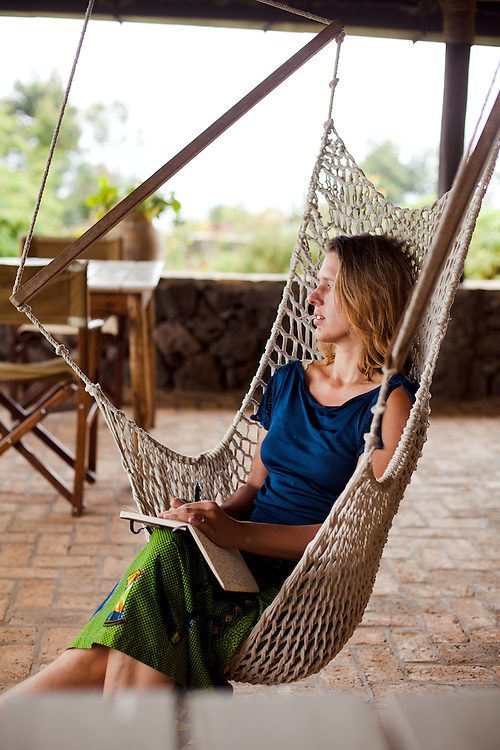 Writer Antonia Windsor at Virunga Lodge