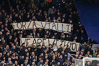 Football - 2019 / 2020 EFL Carabao (League) Cup - Fourth Round: Chelsea vs. Manchester United<br /> <br /> Banners in support of former player and manager Gianluca Vialli are unfurled at Stamford Bridge <br /> <br /> COLORSPORT/DANIEL BEARHAM