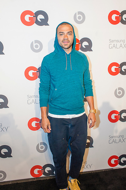 Actor Jesse Williams posing at the GQ & Lebron James NBA All Star Style party sponsored by Samsung Galaxy on Saturday, February 15, 2014, at the Ogden Museum of Southern Art in New Orleans, Louisiana with live jam session from grammy Award-winning Artist The Roots. Photo Credit: Gustavo Escanelle / Retna Ltd.
