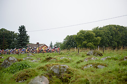 Peloton make their way up the climb on lap two at the 141 km road race of the UCI Women's World Tour's 2016 Crescent Vårgårda women's road cycling race on August 21, 2016 in Vårgårda, Sweden. (Photo by Sean Robinson/Velofocus)