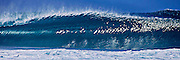 Photographic art of a perfect wave at Banzai Pipeline