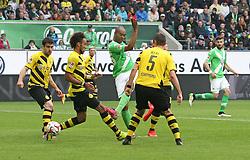 Football: Germany, 1. Bundesliga, VfL Wolfsburg - Borussia Dortmund (BVB), Wolfsburg - 16.05.2015,<br /> Naldo (Wolfsburg) scores to 2:1<br /> <br /> &copy; pixathlon<br /> <br /> +++ NED out !!! +++