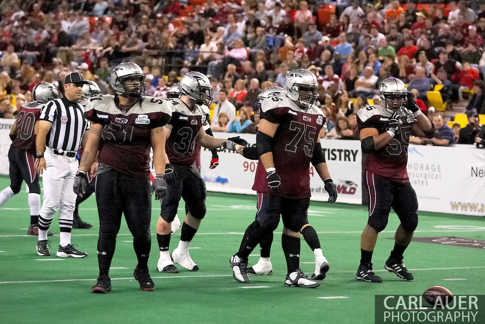 4/12/2007 - The Alaska Wild in their first ever football game.  This is the first professional football game ever in the state of Alaska.