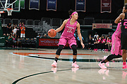 February 11, 2018: Nausia Woolfolk #13 of Florida State in action during the NCAA basketball game between the Miami Hurricanes and the Florida State Seminoles in Coral Gables, Florida. The Seminoles defeated the 'Canes 91-71.