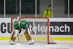 30.01.2015, Hala Tivoli, Ljubljana, SLO, EBEL, HDD Telemach Olimpija Ljubljana vs EC Red Bull Salzburg, 43. Runde, in picture Miika Wiikman (HDD Telemach Olimpija, #35) during the Erste Bank Icehockey League 43. Round between HDD Telemach Olimpija Ljubljana and EC Red Bull Salzburg at the Hala Tivoli, Ljubljana, Slovenia on 2015/01/30. Photo by Morgan Kristan / Sportida