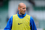 Rob Jones (5) of Hartlepool United during warm up for the EFL Sky Bet League 2 match between Yeovil Town and Hartlepool United at Huish Park, Yeovil, England on 10 September 2016. Photo by Graham Hunt.