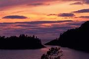 Sunset on Lake Superior<br /> Pukaskwa National Park<br /> Ontario<br /> Canada