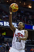 Team USA Tamika Catchings drives to the basket during the 2012 USA Women's Basketball Team versus Brazil at Verizon Center in Washington, DC.  USA won 99-67.  July 16, 2012  (Photo by Mark W. Sutton)