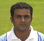 Photo Peter Spurrier.20/06/2002.Virender Schwag 20020620, India Test Team, Nets, Lords. [Mandatory Credit Peter Spurrier:Intersport Images]