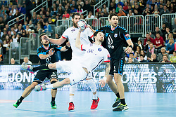 Samuel Honrubia #34 of Paris Sant-Germain during handball match between PPD Zagreb (CRO) and Paris Saint-Germain (FRA) in 11th Round of Group Phase of EHF Champions League 2015/16, on February 10, 2016 in Arena Zagreb, Zagreb, Croatia. Photo by Urban Urbanc / Sportida