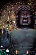 Image of the Great Buddha Daibutsu at Todai-ji Temple in Nara, Japan