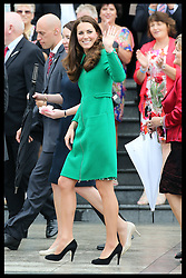 The Duke and Duchess of Cambridge visit the town of  Cambridge in New Zealand, Friday, 11th April 2014. Picture by Stephen Lock / i-Images