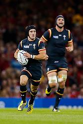 Wales Full Back Matthew Morgan breaks - Mandatory byline: Rogan Thomson/JMP - 07966 386802 - 01/10/2015 - RUGBY UNION - Millennium Stadium - Cardiff, Wales - Wales v Fiji - Rugby World Cup 2015 Pool A.