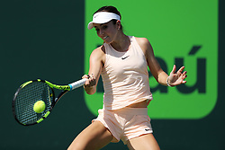 March 21, 2018 - Key Biscayne, Florida, United States Of America - KEY BISCAYNE, FL - MARCH 21: CiCi Bellis during day 3 of the Miami Open Presented by Itau at Crandon Park Tennis Center on March 21, 2018 in Key Biscayne, Florida. ...People:  CiCi Bellis. (Credit Image: © SMG via ZUMA Wire)