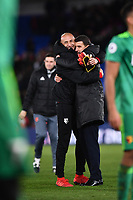 Football - 2018 / 2019 Premier League - Crystal Palace vs. Watford<br /> <br /> Watford manager Javi Gracia with Heurelho Gomes at the final whistle, at Selhurst Park.<br /> <br /> COLORSPORT/ASHLEY WESTERN