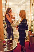 SASHA VOLKOVA; MARGARITA WENNBERG, Lauren Goldstein Crowe hosts reception to thank those that particitated in the research for her book: Isabella, A Life in Fashion. The Fumoir. Claridge's. London. 8 November 2010. -DO NOT ARCHIVE-© Copyright Photograph by Dafydd Jones. 248 Clapham Rd. London SW9 0PZ. Tel 0207 820 0771. www.dafjones.com.