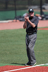 26 April 2014:  Umpire Tim Catton during an NCAA Division 1 Missouri Valley Conference (MVC) Baseball game between the Southern Illinois Salukis and the Illinois State Redbirds in Duffy Bass Field, Normal IL