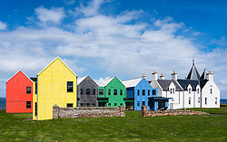 The Inn at John o'Groats hotel on the North Coast 500 tourist motoring route in northern Scotland, UK