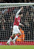 Photo: Olly Greenwood.<br />Arsenal v Charlton Athletic. The Barclays Premiership. 02/01/2007. Arsenal's Robin Van Persie celebrates scoring his 2nd goal