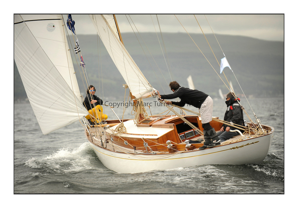Day one of the Fife Regatta, Round Cumbraes Race.<br /> <br /> Ellad, Didier Griffiths, FRA, Bermudan Sloop, Fairlie Yacht Services 1957<br /> <br /> * The William Fife designed Yachts return to the birthplace of these historic yachts, the Scotland&rsquo;s pre-eminent yacht designer and builder for the 4th Fife Regatta on the Clyde 28th June&ndash;5th July 2013<br /> <br /> More information is available on the website: www.fiferegatta.com