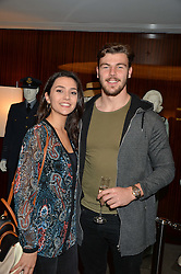 JOHNNY WILLIAMS and HANNAH MITCHELL at a screening of Paramount Pictures 'Allied' hosted by Rosie Nixon of Hello! Magazine at The Bulgari Hotel, 171 Knightsbridge, London on 23rd November 2016.
