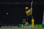 Hampshire T20 all-rounder Darren Sammy batting during the NatWest T20 Blast South Group match between Hampshire County Cricket Club and Kent County Cricket Club at the Ageas Bowl, Southampton, United Kingdom on 2 June 2016. Photo by David Vokes.