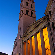 Tempio di Minerva, a Roman temple from the Augustan age, in the Piazza del Comune, Umbria, Assisi, Italy