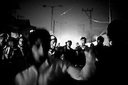 10.10.2008, India, Kashmir, Srinagar, Protesters demonstrating against the killing of two people through the Indian Forces earlier that day