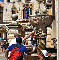 Onofrio's Little Fountain in Dubrovnik, Croatia<br />