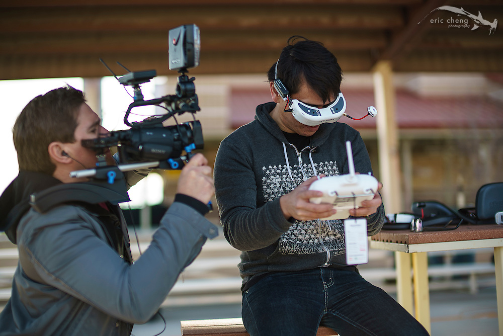 Will Smith and Norman Chan go head to head in a FPV Phantom 2 race for Tested.com at #ces2015 #dronerodeo