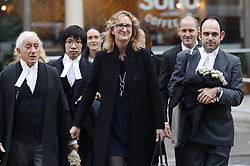 © Licensed to London News Pictures. 16/12/2016. London, UK. Claire Blackman, wife of Sgt Alexander Blackman, arrives at The High Court to attend a bail hearing. Sgt Alexander Blackman is currently serving a life sentence after being convicted of murdering a wounded Taliban fighter in Afghanistan in 2011. Photo credit: Peter Macdiarmid/LNP