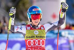 14.03.2019, Soldeu, AND, FIS Weltcup Ski Alpin, SuperG, Damen, im Bild Mikaela Shiffrin (USA, Siegerin Slalom, Riesenslalom, Super G und Gesamteltcup) // Winner of the Slalom Giant Slalom Super G and Overal World Cup Mikaela Shiffrin of USA during the ladie's Super-G of FIS Ski Alpine World Cup finals. Soldeu, Andorra on 2019/03/14. EXPA Pictures © 2019, PhotoCredit: EXPA/ Erich Spiess