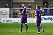 Red Card - Alex Whitmore (25) of Grimsby Town walks back to the changing rooms after being sent off during the EFL Sky Bet League 2 match between Exeter City and Grimsby Town FC at St James' Park, Exeter, England on 29 December 2018.