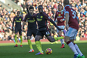 Manchester City midfielder Yaya Toure during the Premier League match between Burnley and Manchester City at Turf Moor, Burnley, England on 26 November 2016. Photo by Pete Burns.
